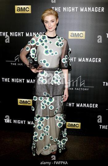 Los Angeles, California, USA. 5th April, 2016. Elizabeth Debicki at the Los Angeles premiere of AMC's 'The - Stock Image