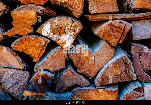 Full Frame Shot Of Firewood - Stock-Bilder