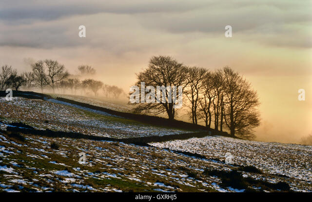 Bamford Edge in the Peak District, National Park. - Stock Image