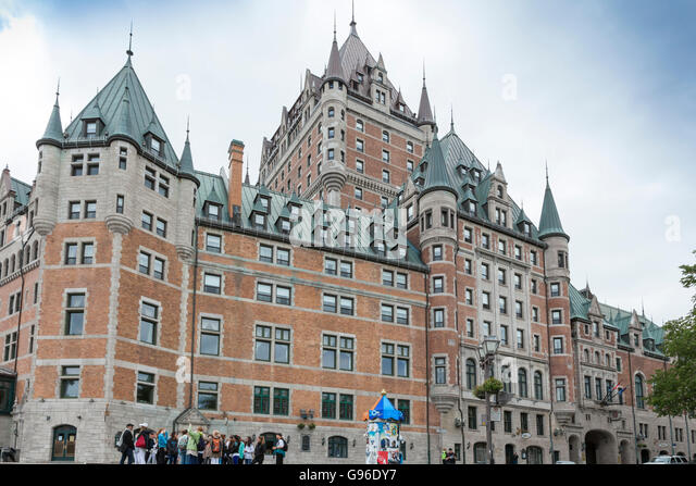 Chateau Frontenac in Quebec City, Ontario, Canada - Stock Image