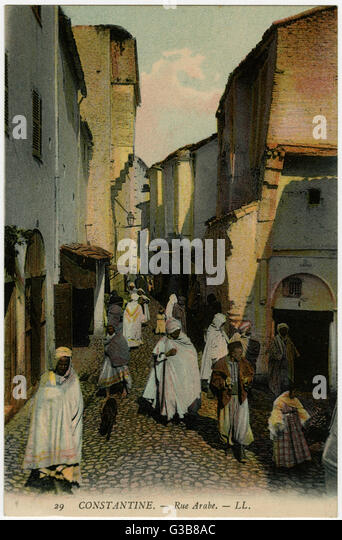 Constantine:  Rue Arabe        Date: early 20th century - Stock Image
