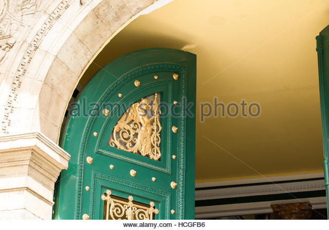 Beautiful Entrance Door of Beziers Theatre, old architecture images nostalgia, historic building,  trendy summer - Stock-Bilder