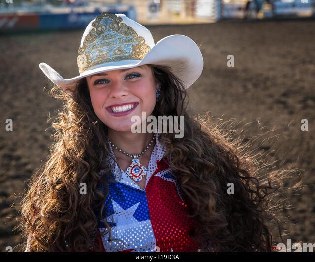 Cowgirl riding oregon usa stock photos amp cowgirl riding oregon usa