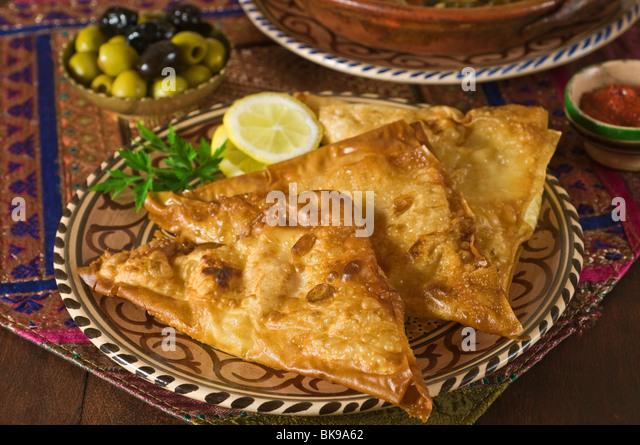 Brik à l'oeuf Tunisia Food - Stock Image