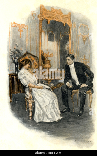 Victorian Couple at Ball - Stock Image