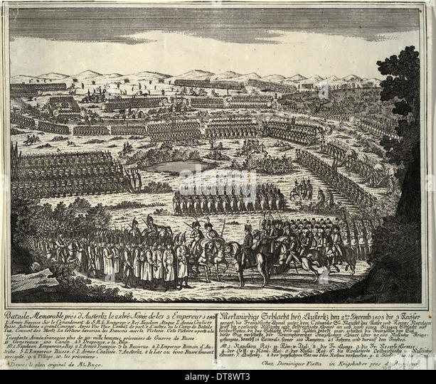 The Battle of Austerlitz on December 2, 1805, 1805. Artist: Anonymous - Stock Image