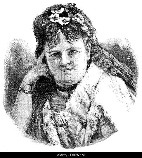 Alberta von Maytner, pseudonyms Margarethe Halm, A. v. Sandec and Paul Andow 1835-1898, an Austrian writer, - Stock-Bilder