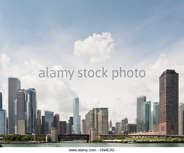 Skyscrapers in Chicago - Stock Image