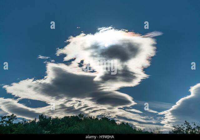 Mistral Clouds, South France, Provence, France - Stock Image