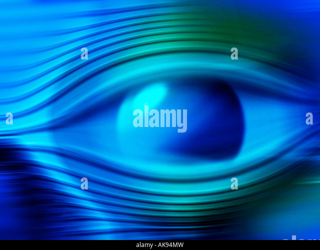 Abstract eye digital illustration - Stock Image