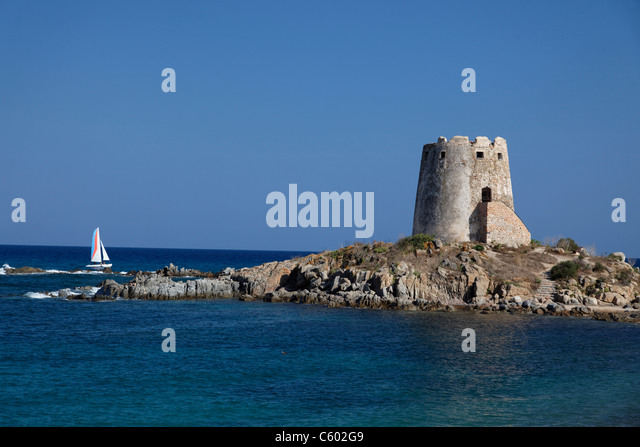 Torre di Bari e, Italy Sardinia - Stock Image