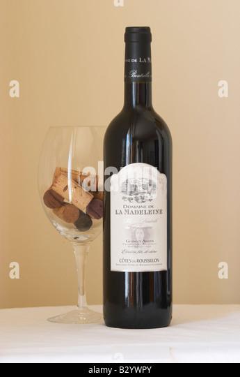 Domaine de la Madeleine. Roussillon, France - Stock Image