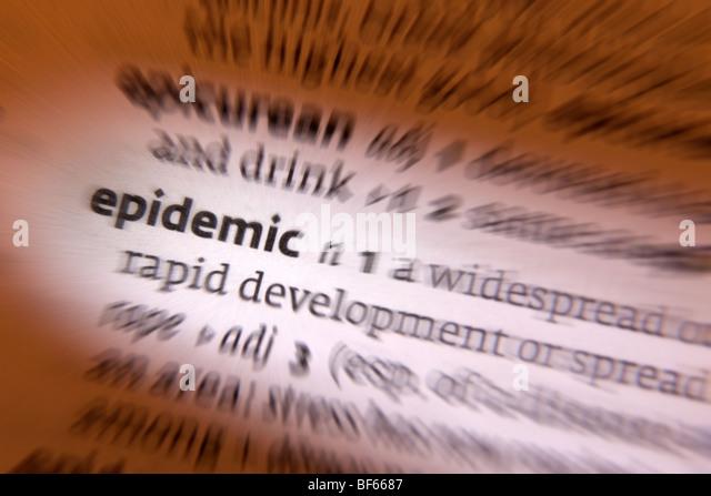 Concept - epidemic - Stock Image