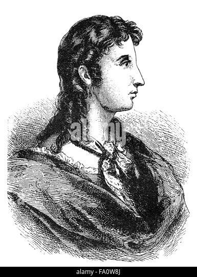 Elisabeth Kulmann, 1808-1825, a Russian-born poet of German parents - Stock-Bilder