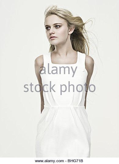 Beautiful young blond woman - Stock Image