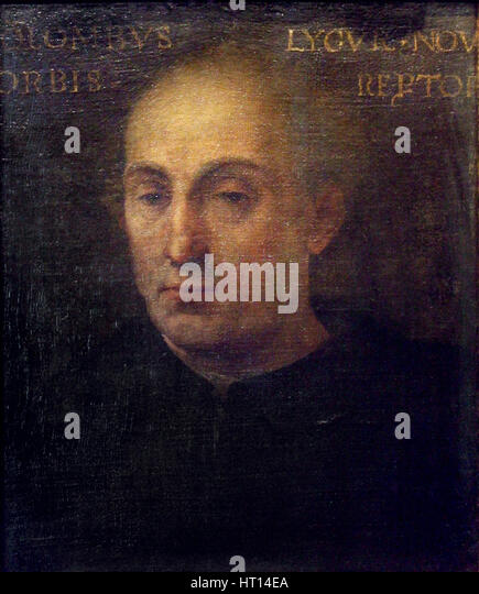 Portrait of Christopher Columbus, 1556. Artist: Dell'Altissimo, Cristofano (1525-1605) - Stock-Bilder