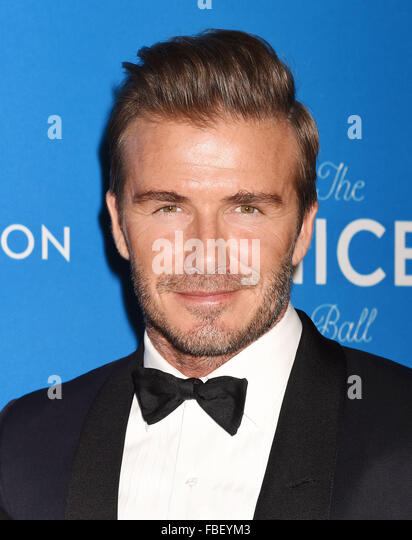 DAVID BECKHAM English footballer in January 2016. Photo Jeffrey Mayer - Stock Image