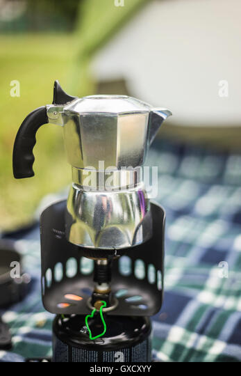 Italian Coffee Maker For Camping : Stovetop Espresso Stock Photos & Stovetop Espresso Stock Images - Alamy