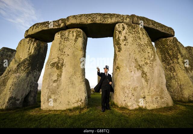 Stonehenge auction centenary marked - Stock Image