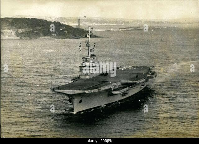 Nov. 24, 1959 - Naval Ship ''Clemenceau' - Stock Image