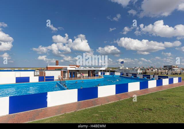 Sea Water Pool Bathers Stock Photos Sea Water Pool