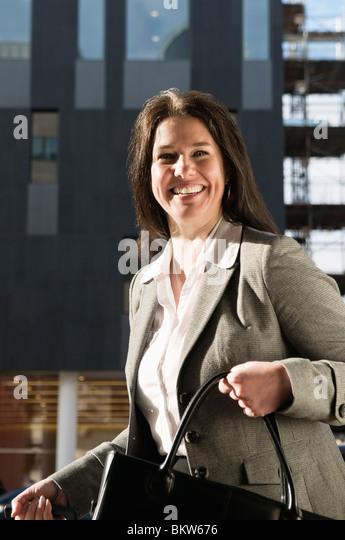 Businesswoman on the go - Stock-Bilder