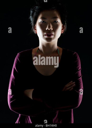 portrait  of oriental woman - Stock Image