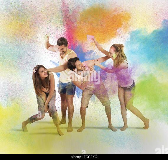 Funny coloured entertainment - Stock-Bilder
