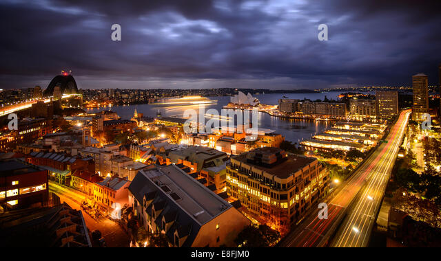Australia, Sydney, Urban sprawl at down - Stock-Bilder