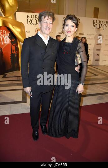 Kurier Romy 2017 at Hofburg.  Featuring: Tobias Moretti, Julia Moretti Where: Vienna, Austria When: 22 Apr 2017 - Stock-Bilder