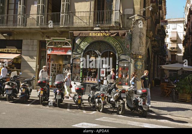 Barcelona Las Ramblas Traditional Patisserie Escriba built 1920 modernism - Stock Image