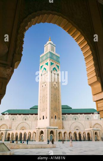 Hassan II Mosque, Casablanca:, Morocco - Stock Image