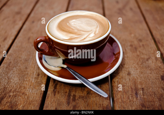 A flat white. - Stock Image