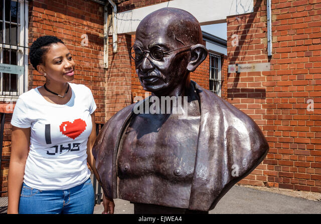 Johannesburg South Africa African Braamfontein Constitution Hill Museum National Heritage site apartheid racism - Stock Image