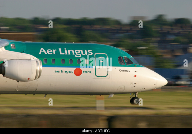 Aer Lingus British Aerospace BAe-146-300 - Stock Image