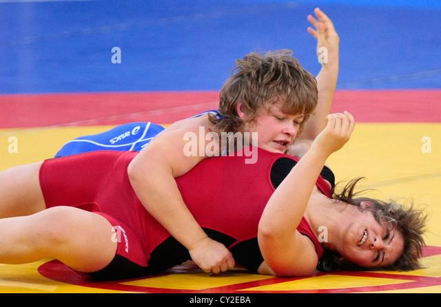 Girls freestyle wrestling pins brilliant idea