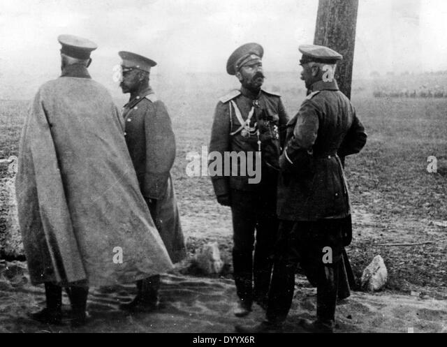 General von Francois with General Klujew, 1914 - Stock Image