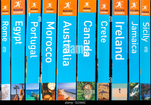 Rough Guide travel guide books - Stock-Bilder