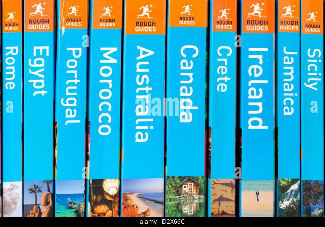 Rough Guide travel guide books - Stock-Bilder