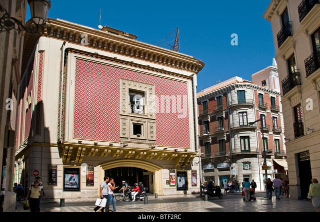Granada town city historic center Spain Andalusia Cinema Movies - Stock Image