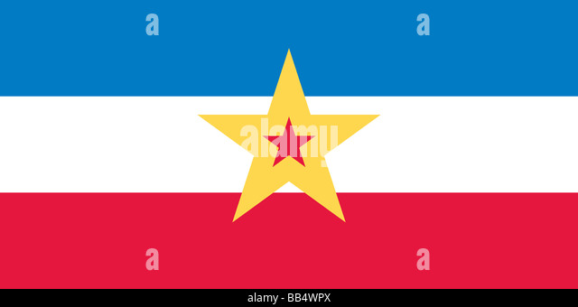 Historical flag of Yugoslavia - Stock Image