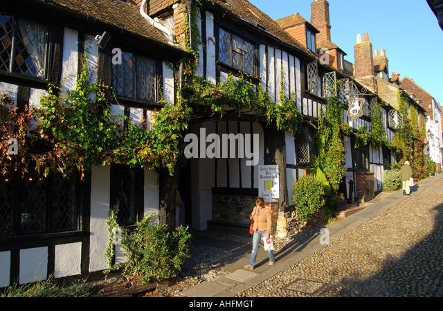 The Mermaid Inn, Mermaid Street, Rye, East Sussex, England, United Kingdom - Stock Image