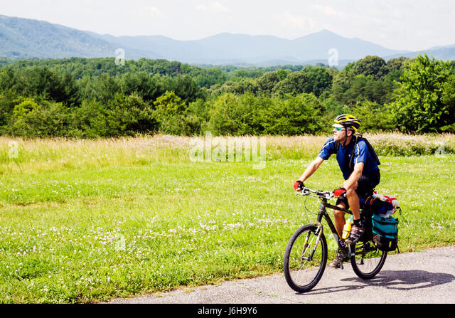 Virginia Appalachian Mountains Blue Ridge Parkway All-American Road National Scenic Byway Roanoke Mountain Virginia - Stock Image