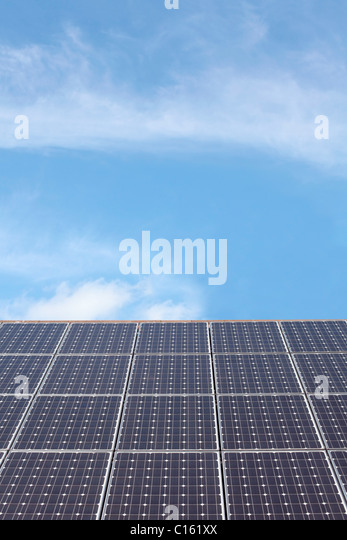 Solar panel roof - Stock Image