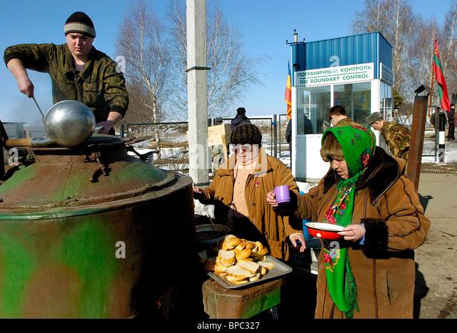 Situation on Moldovan-Ukrainian border remains tense - Stock Image