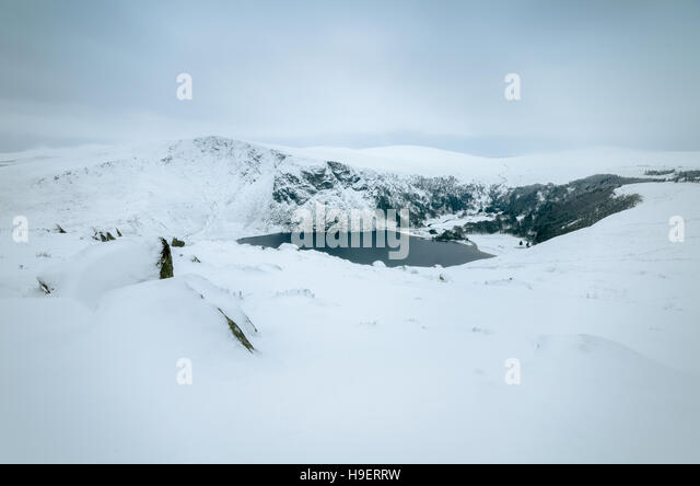 Lough Tay in Wicklow Mountains - Stock Image
