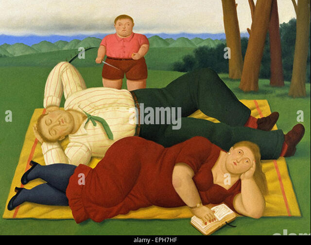 Fernando Botero  In the Country Side - Stock Image