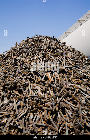Stack of metal spikes - Stock Image