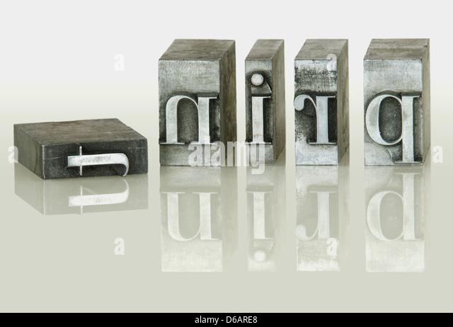 letters,print,print,sort set - Stock Image