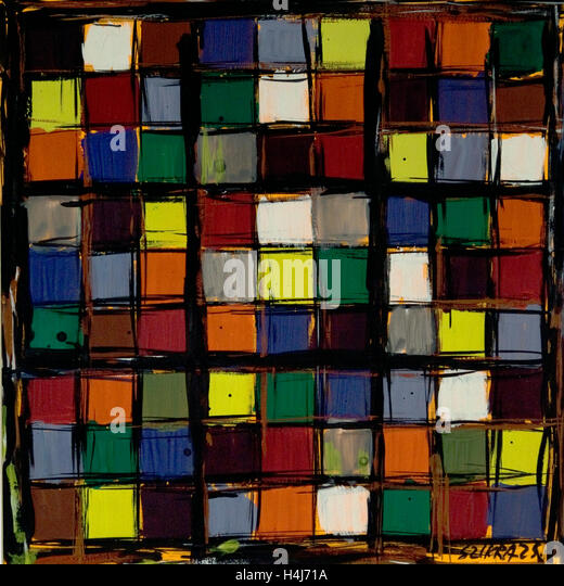 Susan Szikra, shapes of London, abstract expressionism, Poetic mind, a journey through colors - Stock-Bilder